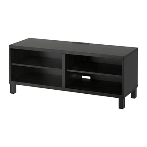 ikea besta bench best 197 tv bench black brown ikea