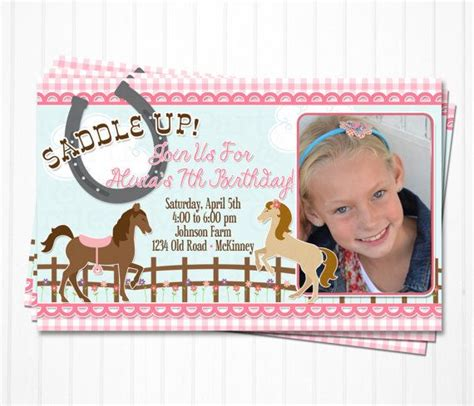 personalized birthday invitations horse by littlebeaneboutique 18 best images about marley s birthday party on pinterest
