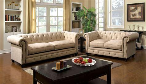 stanford ivory fabric living room set  furniture