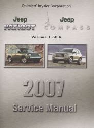 automotive service manuals 2007 jeep patriot electronic toll collection 2007 jeep patriot compass service repair manual 4 vol set