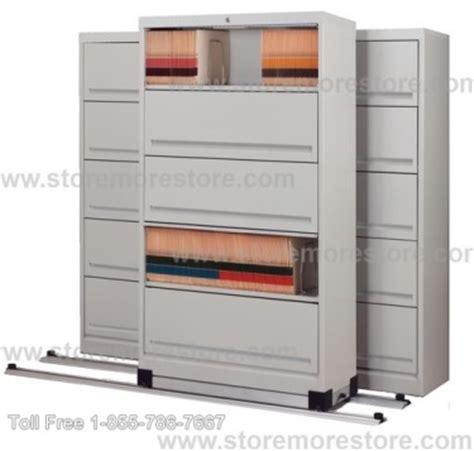 flipper door stationary shelving high density sliding