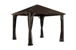 Metal Roof Gazebo Canada by Sojag Dakota Gazebo Walmart Ca