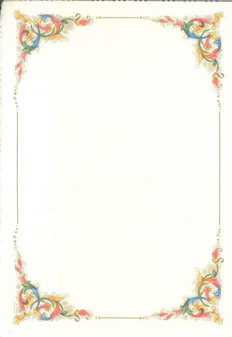 cornice per foglio a4 carta pergamena tema cornice semplice conf 2 fogli per