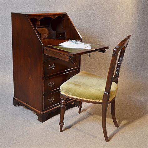 Antique Bureau Writing Desk Mahogany Leather Top English Small Bureau Desk Uk