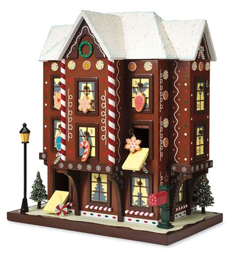 musical advent calendar house gingerbread house advent calendar can it be any cuter home products pinterest advent