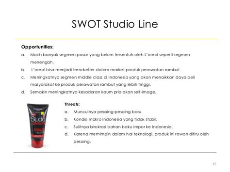 Minyak Rambut Loreal Studio strategic marketing management process