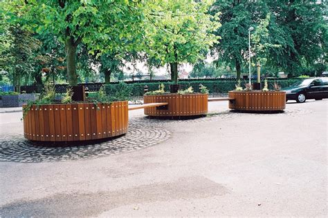 Circular Planters Around Trees by Swithland Circular Planter Design Products