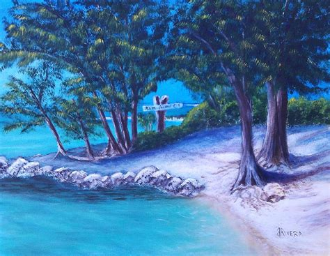 relaxing painting videos relaxing at rum point painting by janet rivera