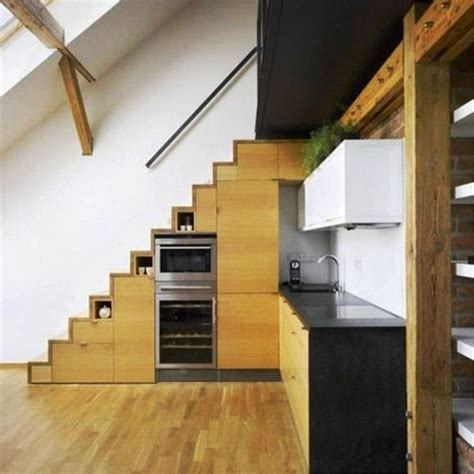 Kitchen Design With Basement Stairs 17 Best Images About Tiny House On Pinterest Tiny Homes On Wheels Tiny House On Wheels And