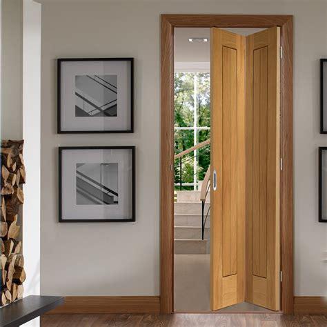 Oak Bifold Doors by Suffolk Oak Bifold Door With Vertical Lining