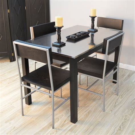 metal dining room tables fabulous modern dining room set with metal dining table