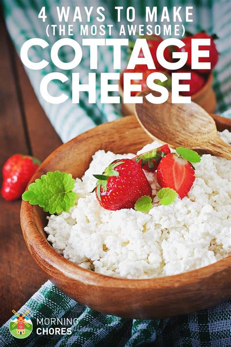how to make the best cottage cheese in 4 different