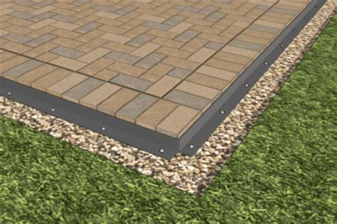 paver patio edging options how to install a paver patio home fix diy