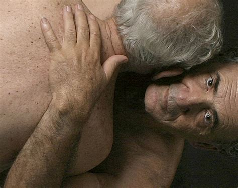 Older man nude with older gay