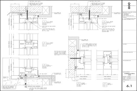 curtain wall floor detail sle drawings