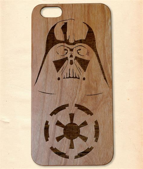 Handmade Wooden Iphone Cases - darth vader handmade wooden cover for iphone 6 6s