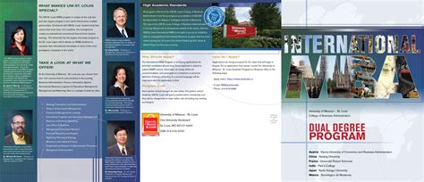 Mba Requirements Umsl by Imba Brochure
