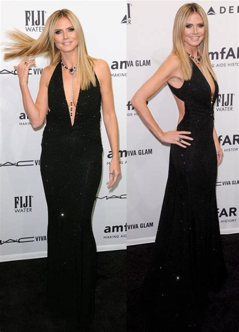 Who Wore Michael Kors Better Heidi Klum Or Hudson by Heidi Klum Dazzling Daring In V Neck Gown With
