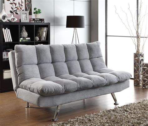 Plush Sofa Bed Plush Sofa Bed In Grey Teddy Fabric Miami Direct Furniture