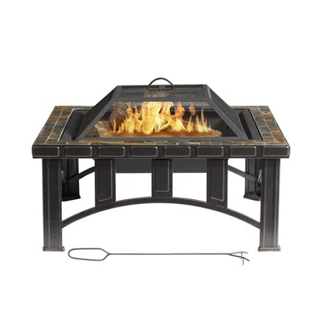 lowes firepits firepits at lowes shop garden treasures 30 quot black