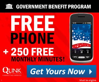 Government Giveaway Programs For Seniors - q link wireless free cellphone 250 free minutes per month free4seniors