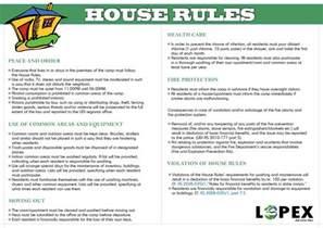 house rules house rules kvinesdal mottak