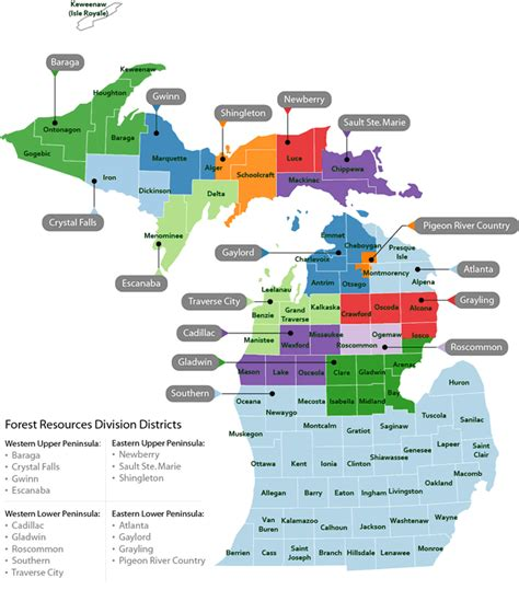 michigan state land map dnr forest management unit map