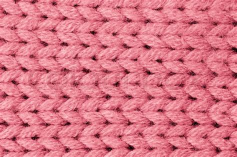 pink knit wallpaper pink knitted wool texture can use as background stock