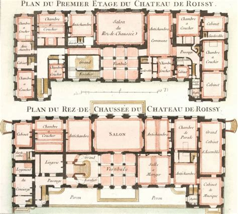 chateau homes floor plans cahier 3 plate 10 plan du premier etage du chateau de