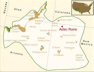 Aztec Ruins Mexico Map by Gallery For Gt Aztec Ruins Map