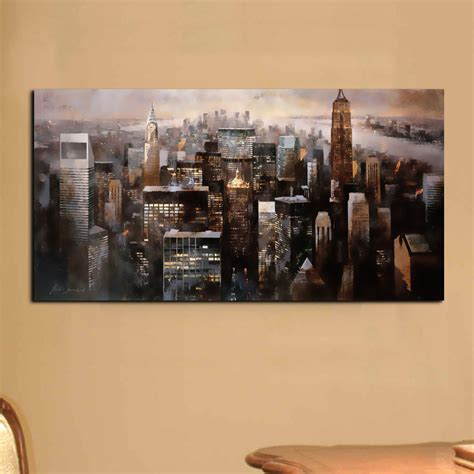 home decor products aliexpress com buy modern wall art canvas painting wall pictures for living room city building