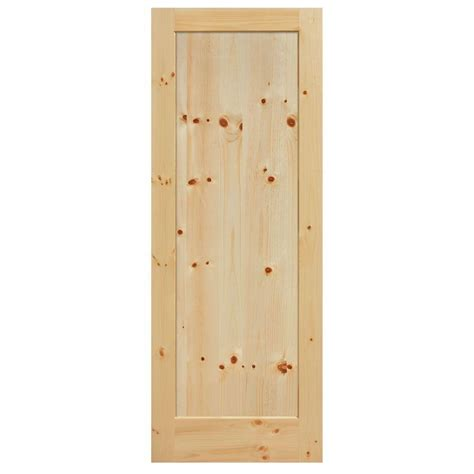 40 Inch Closet Door by Masonite 40 In X 84 In Knotty Pine 1 Panel Shaker Flat