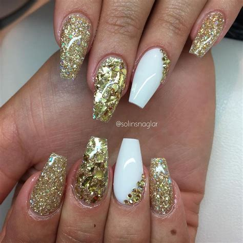 long pattern nails top 60 gorgeous glitter acrylic nails