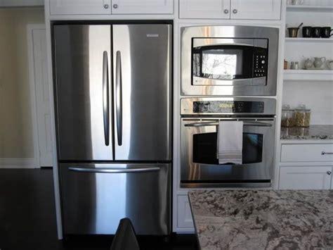 Two Fridges In Kitchen - fridge next to wall oven kitchens appliances kitchen