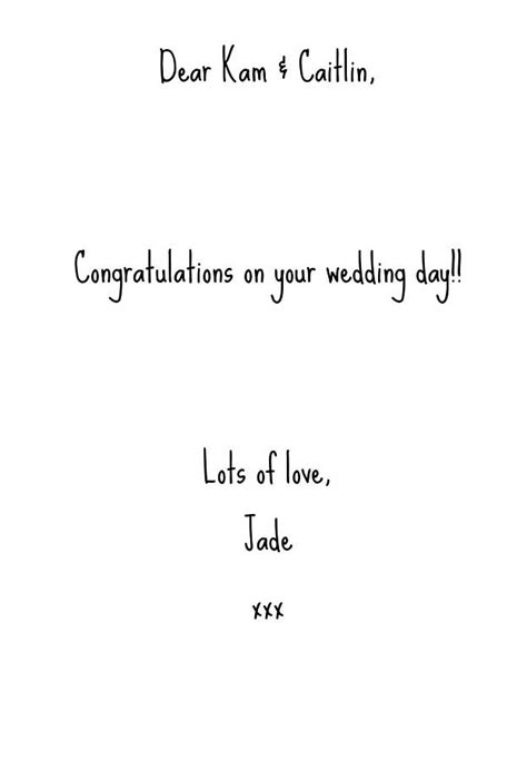 Wedding Congratulation Text by Wedding Congratulations Typography Card By Lovely Jubbly