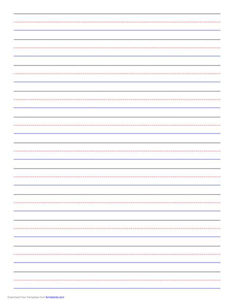 penmanship paper 11 colored lines portrait free download