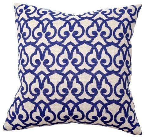 Decorative Blue Pillows by Print Blue Pillow Pair Eclectic Decorative