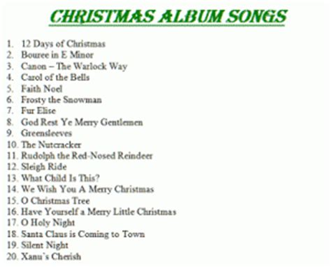christmas song list songs list doliquid