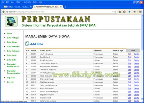 Buku Original Aplikasi Manajemen Database Pendidikan Berbasis Web sistem informasi perpustakaan berbasis web dengan php