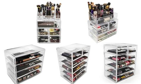 sorbus makeup storage set large display stackable and detachable drawers up to 62 on sorbus makeup organizer set groupon goods