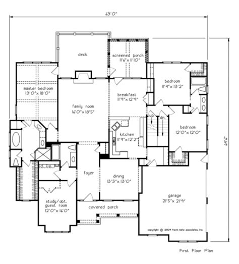 Betz House Plans Blackstone House Floor Plan Frank Betz Associates