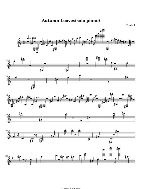 marvins room chords autumn leaves sheet piano