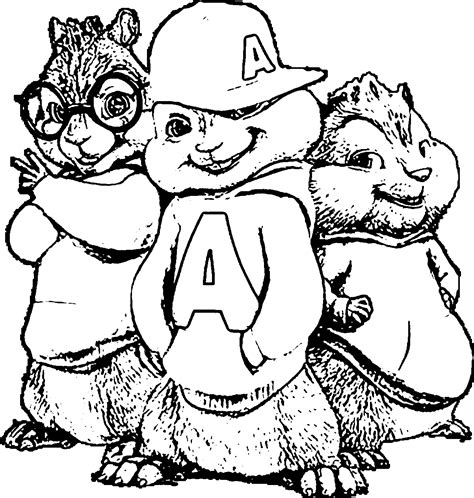 alvin and the chipmunks coloring pages coloringsuite com