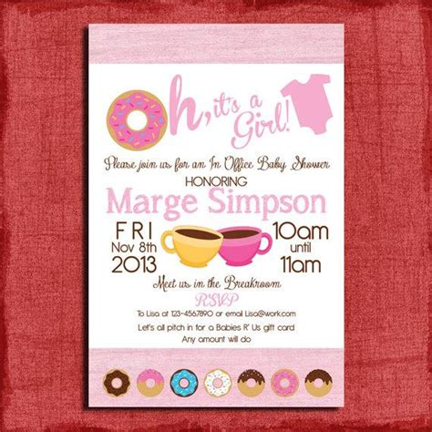 Work Baby Shower Invite Email by Printable Office Donut Baby Shower Invitation Great For