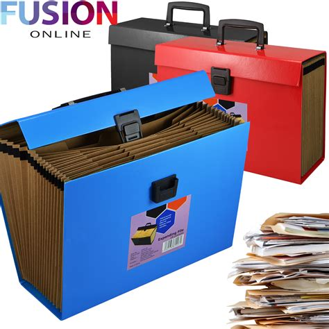 Wedding Organiser Box File by 19 Pocket Expanding Box File Organiser A4 Documents Paper