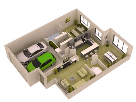 home interior design tool plan 3d simple 1 bedroom small modern home plans with garage