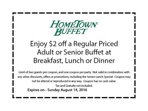 50 off hometown buffet promo code coupons
