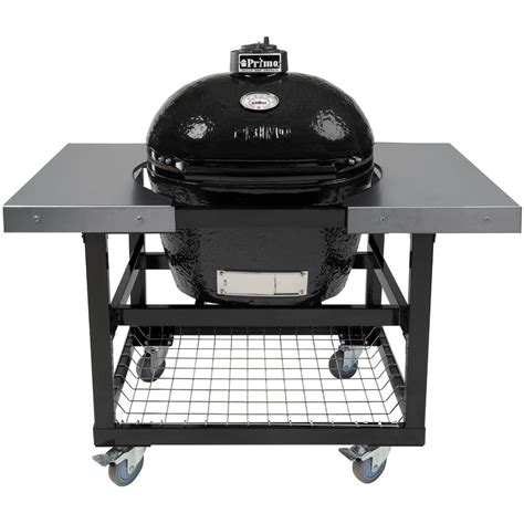 Primo Large Grill primo oval large ceramic kamado grill on steel cart with