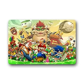 sonic the hedgehog rug scottshop fashion custom sonic the hedgehog mario doormat 23 6 quot l x 15 7 quot w