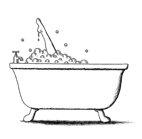 bathtub drawing bubble bath creativeliz
